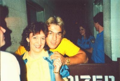 Tish with Terry Taylor, 1985